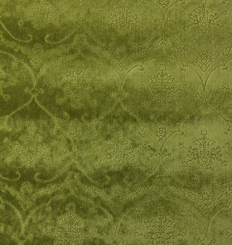 scalamandre pennsbury moss green linen velvet upholstery fabric by the yard ebay. Black Bedroom Furniture Sets. Home Design Ideas