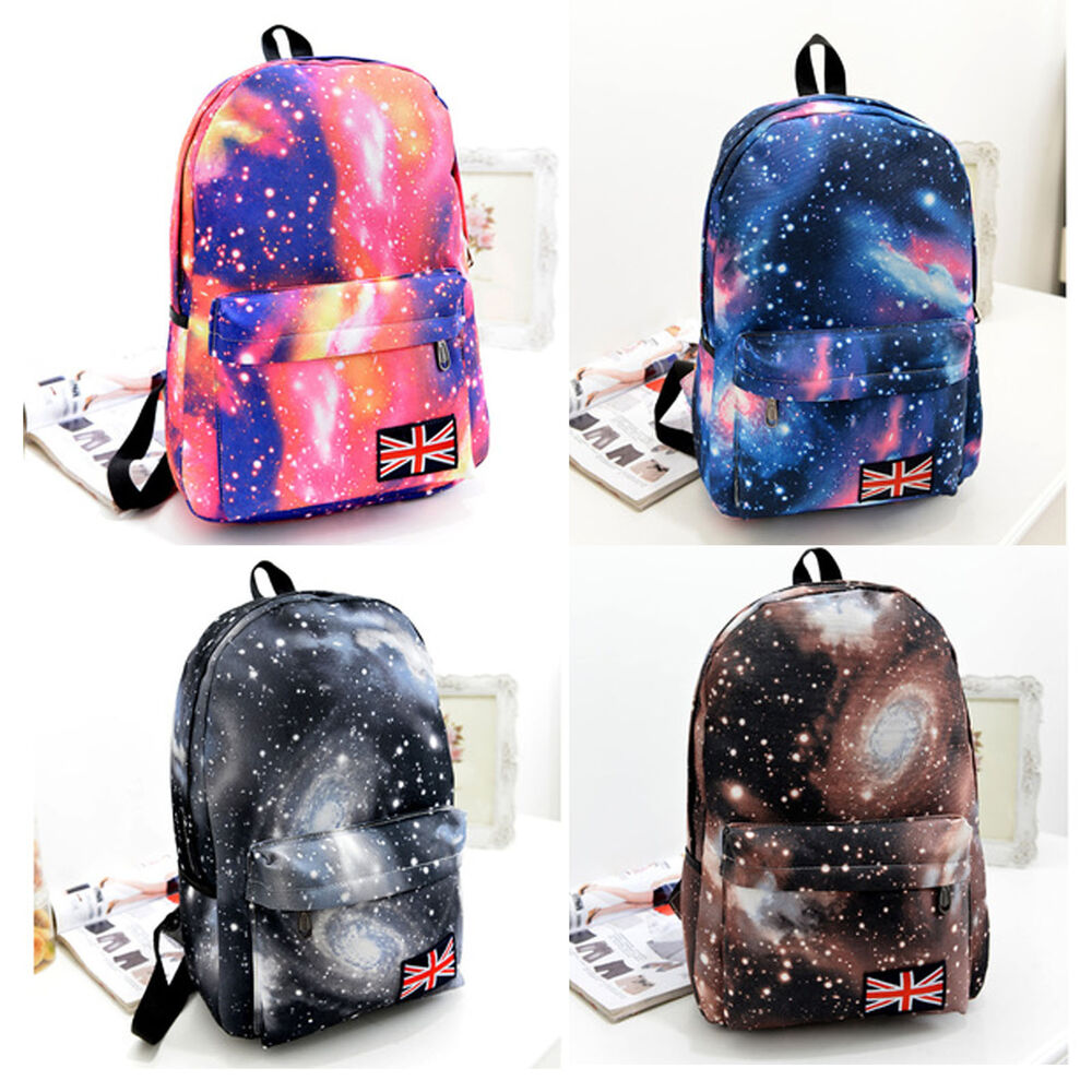 Galaxy Pattern Travel Backpack Canvas Leisure Bags School bag ...