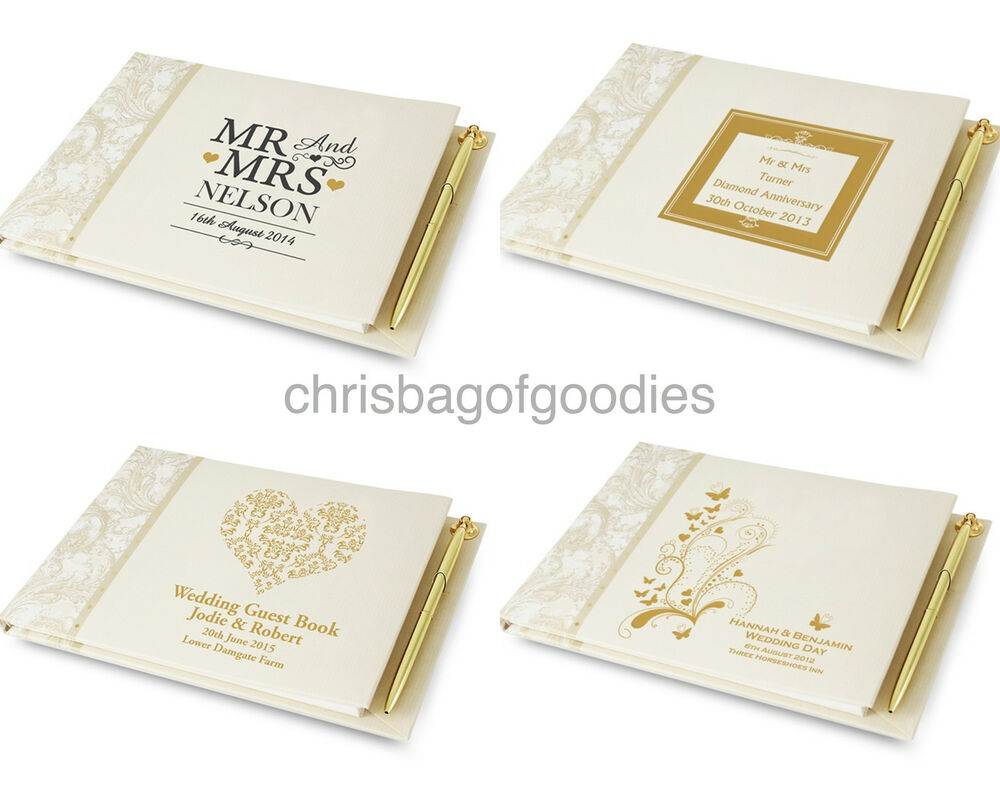 Personalised Wedding Gift Book : PERSONALISED GIFT for Wedding Engagement Anniversary Gold Silver GUEST ...