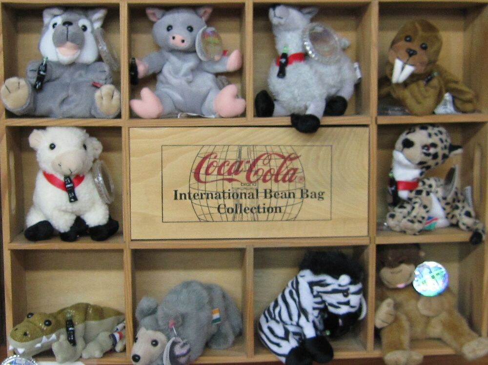 Coca cola bean bag international collection set 4 new for International collection