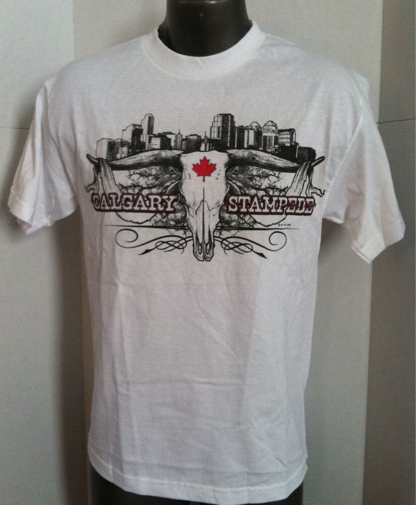 Calgary stampede white vintage t shirt brand new with for Which t shirt brand is the best
