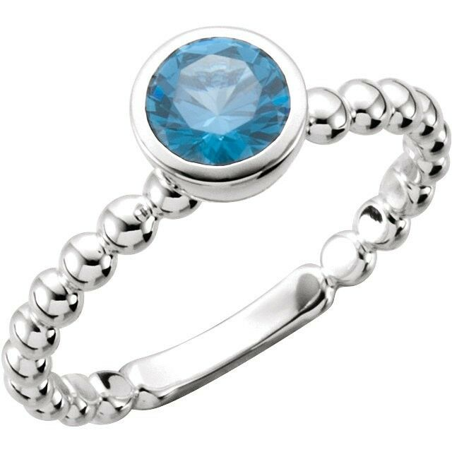 sterling silver stackable 1 birthstones mothers ring