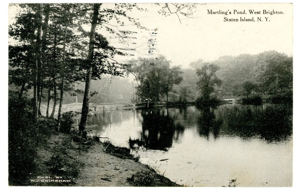 West brighton staten island ny martlings pond postcard for 10 richmond terrace staten island ny 10301