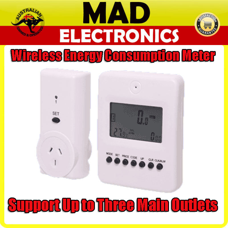 Power Demand Meter : Wireless mains power monitor energy consumption meter up