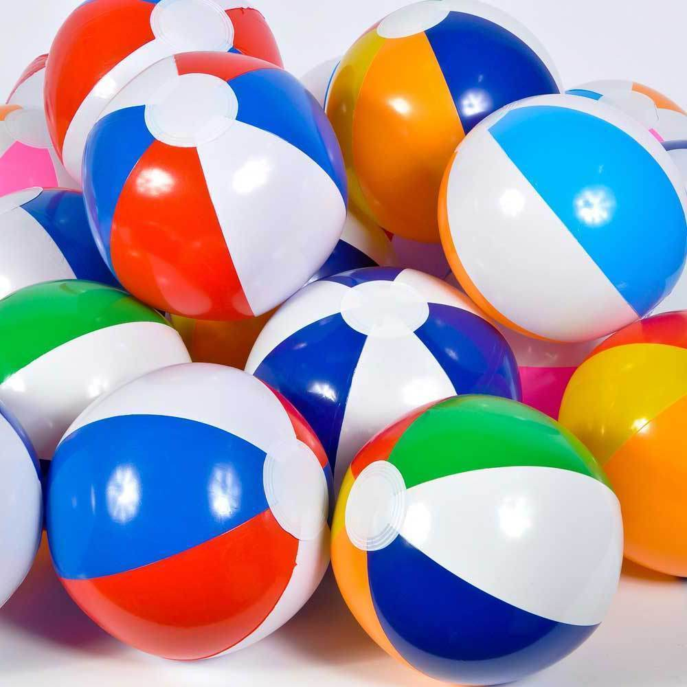 "12 ASSORTED BEACH BALLS 12"" Pool Party Beachball #LN3 Free ..."