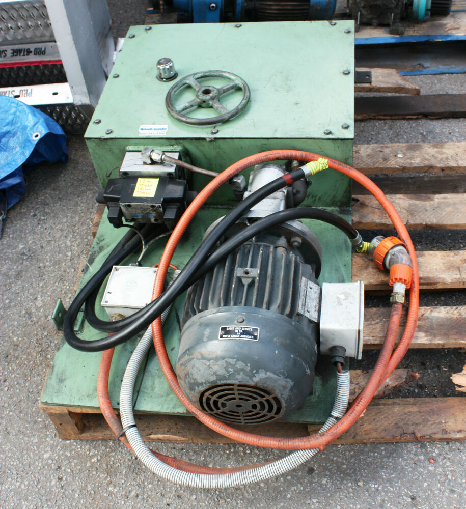 Hydraulic Lift Motor : Kw hydraulic power pack motor pump suit scissor lift ebay
