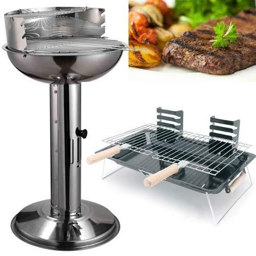 Pedestal Charcoal Grills : Stainless steel charcoal barbecue pedestal bbq adjustable
