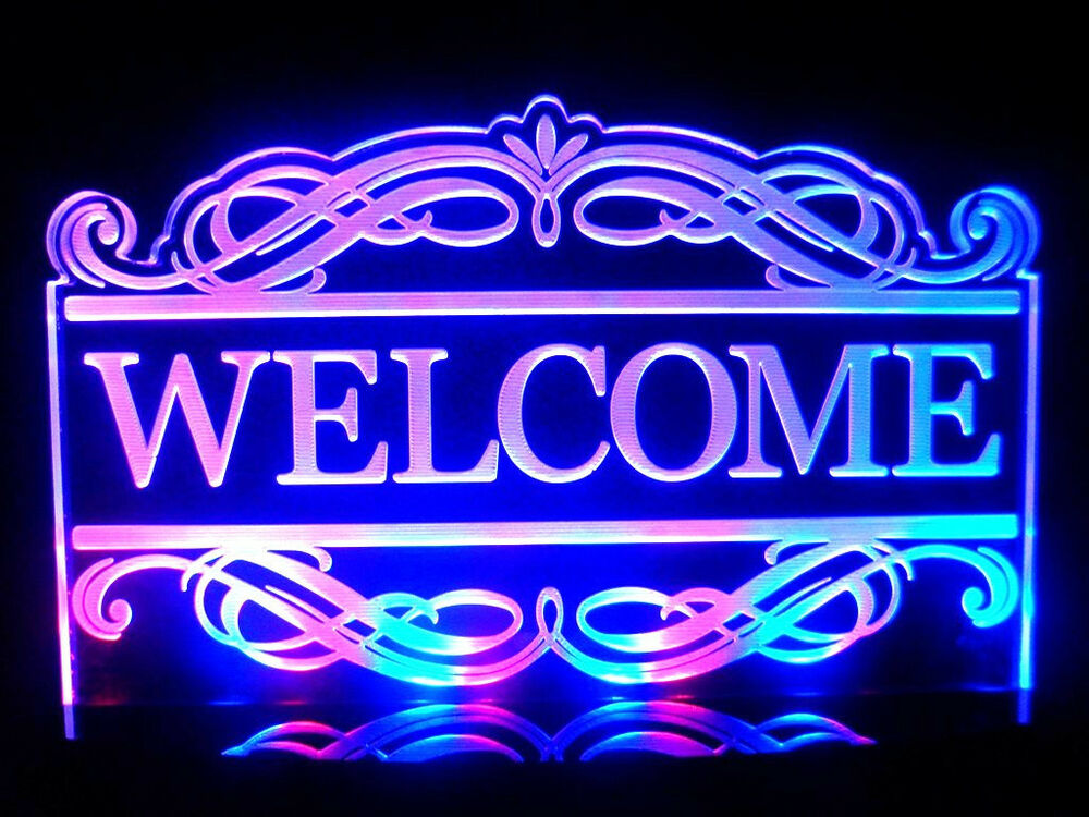 Multi Color Acrylic Led Welcome Signs Lamp Night Light