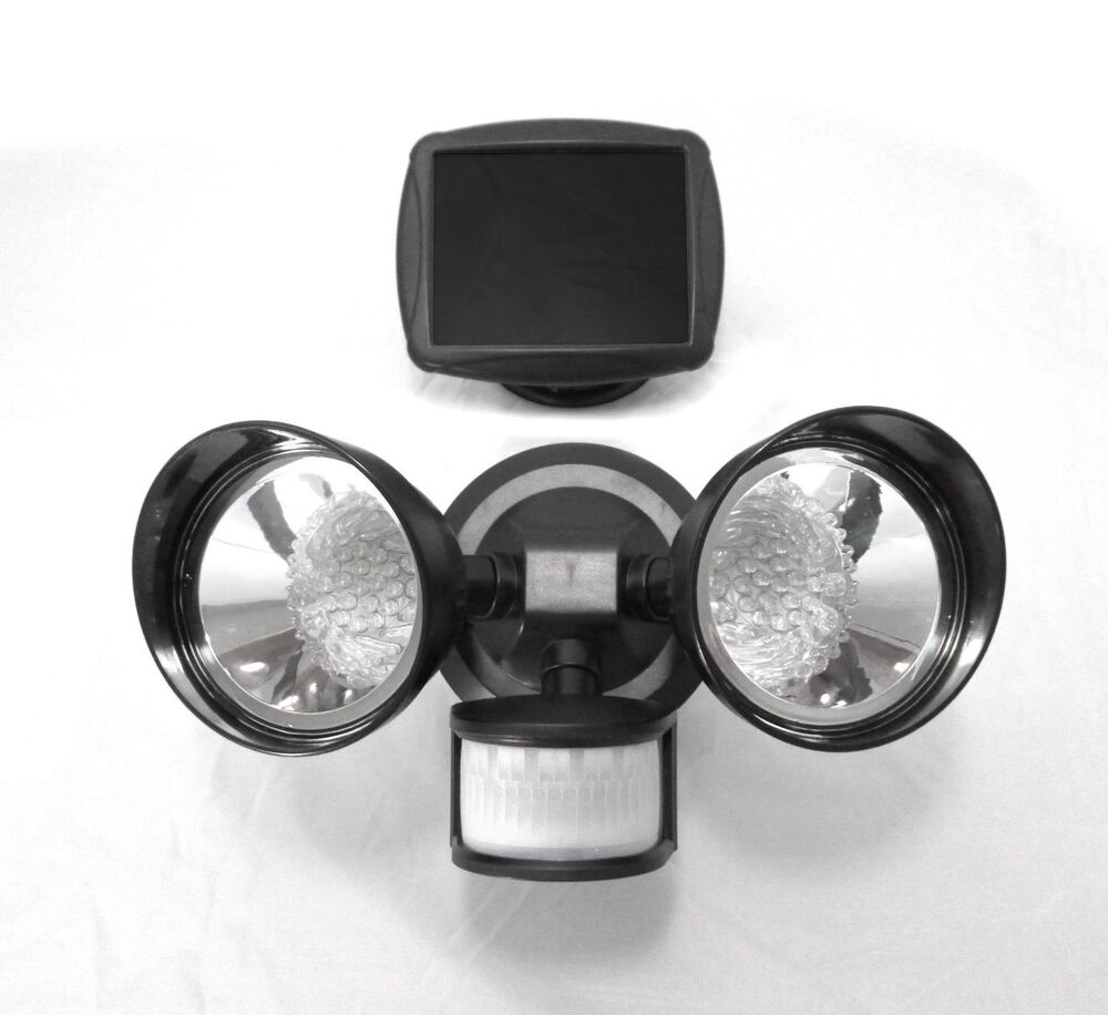 Solar Spot Light Motion Sensor Outdoor 36 LED Dual Security Flood Light Bla