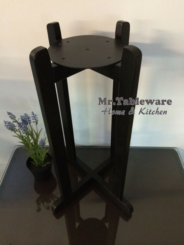 27 Quot Black Floor Wood Stand For Porcelain Ceramic Water