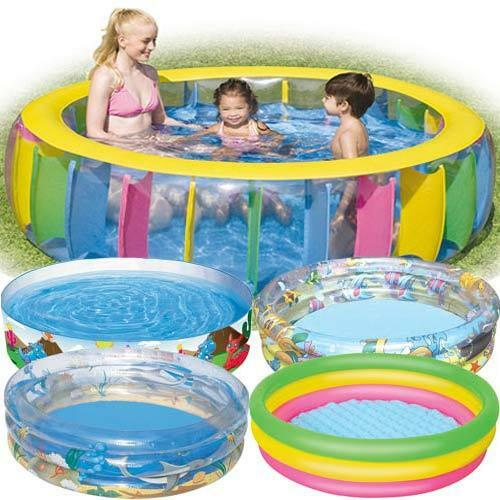 Family swimming pool garden outdoor summer activity for Garden paddling pools