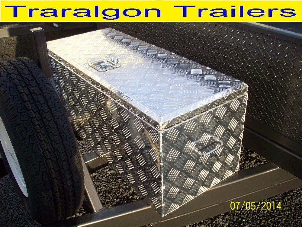 Aluminium Heavy Duty Caravan Trailer Draw Bar Toolbox Drawbar Tool