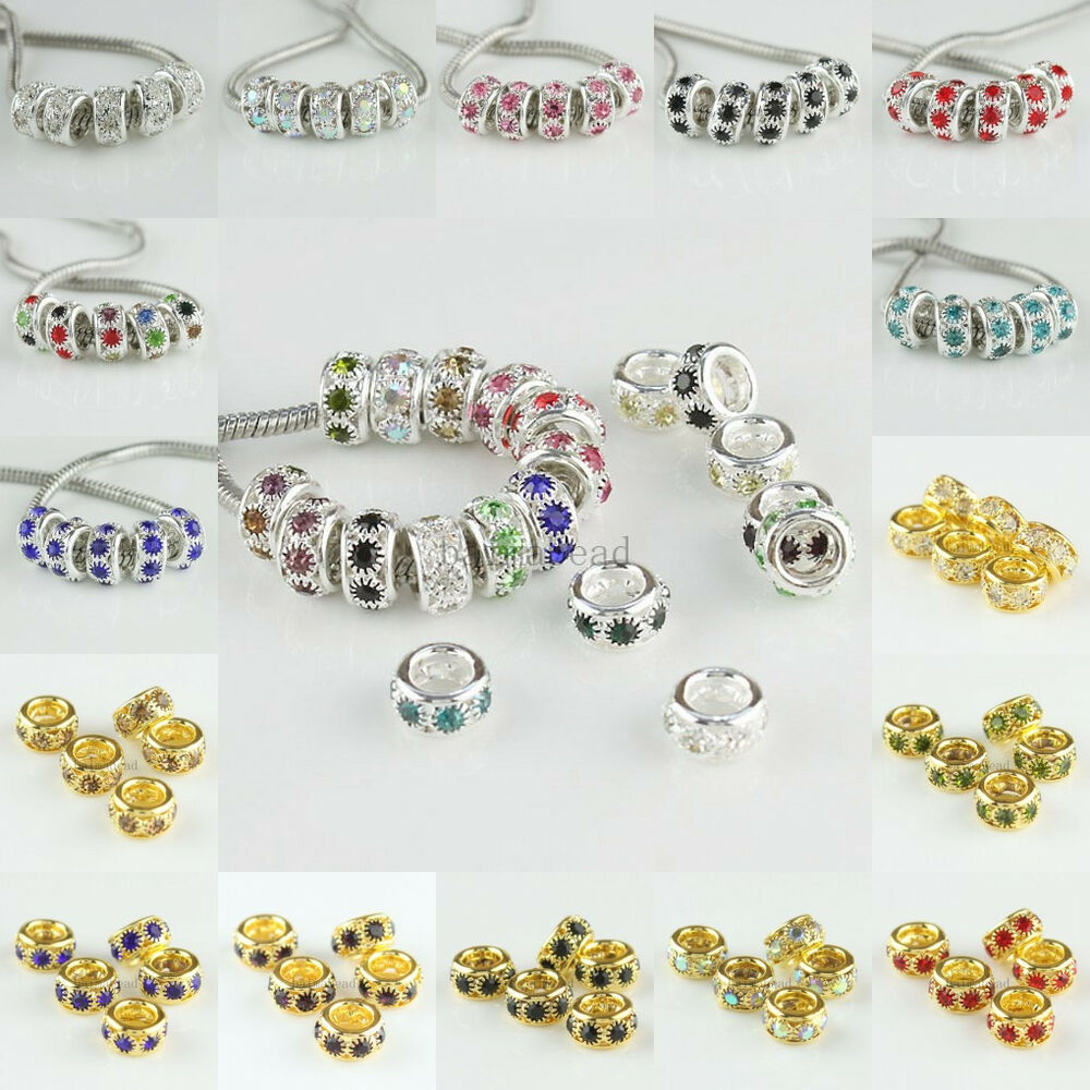 wholesale rhinestones jewelry spacer charms