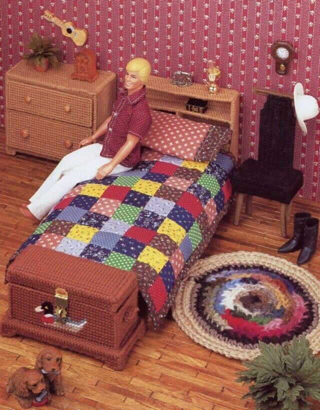 Bedroom Furniture Barbie Ken Bed Chest Chair Dresser