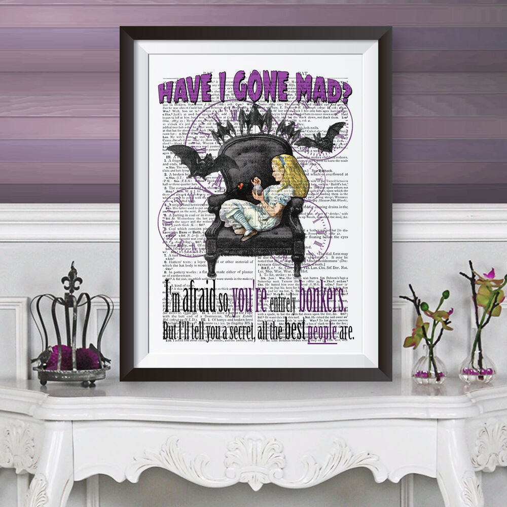 Poster Gothic Alice In Wonderland On Dictionary Background