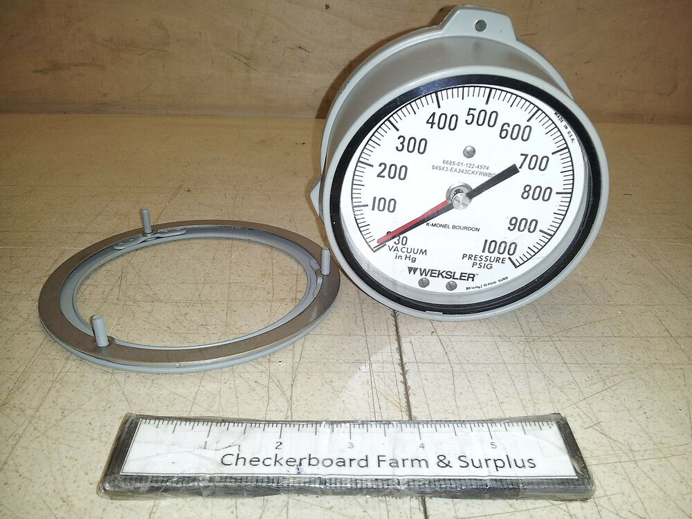 Ashcroft Compound Gauges : Nos quot weksler ashcroft compound pressure gage gauge