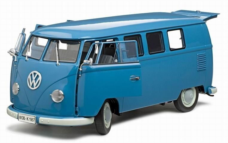 vw bus t1 1957 kombi blau sunstar modell 1 12 mit. Black Bedroom Furniture Sets. Home Design Ideas