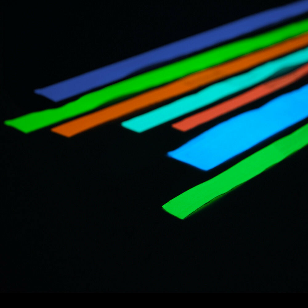 Glow In The Dark Adhesive Strip Vinyl Neon Tape 8 Colors Available Ebay