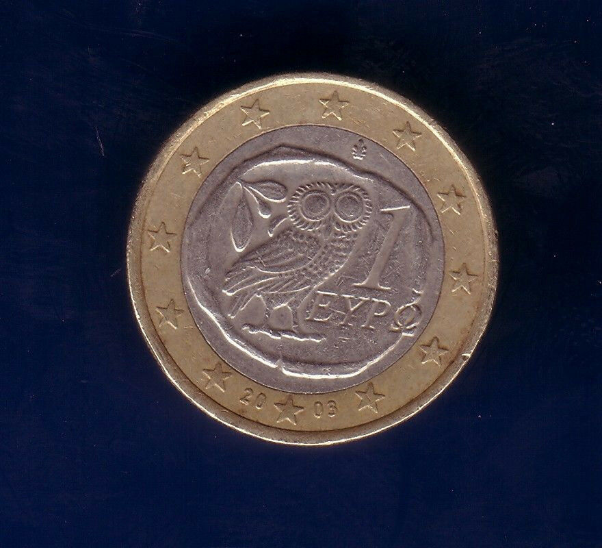 1 euro coin from greece used ebay. Black Bedroom Furniture Sets. Home Design Ideas