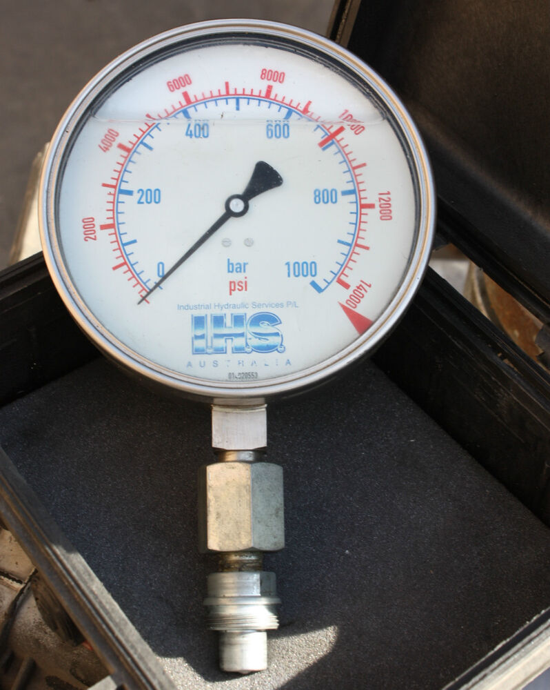 Large face bar psi hydraulic pressure gauge