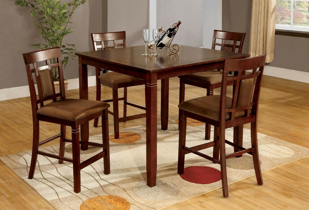 room furniture dining table w 4 chairs in cherry dining set ebay