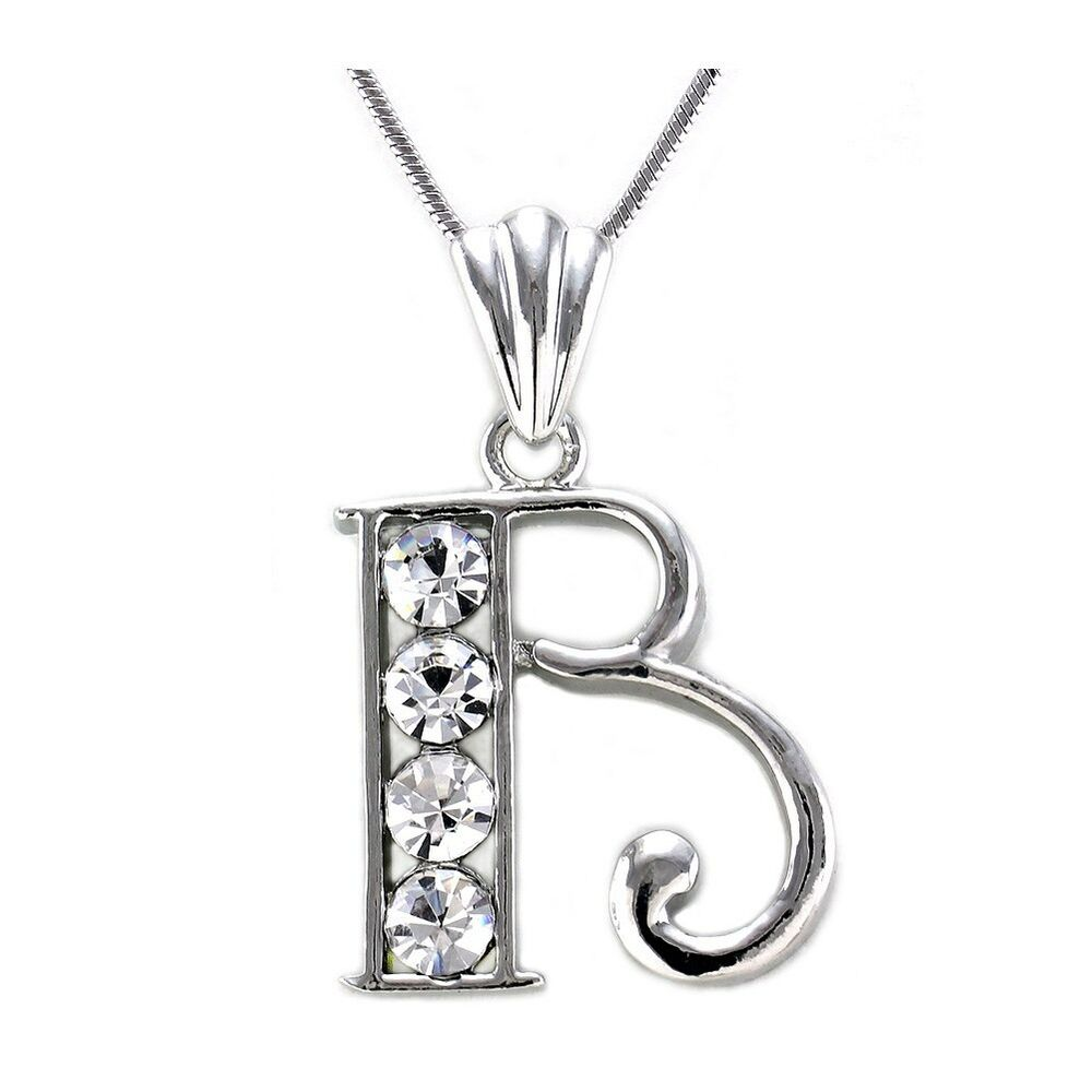 Alphabet Initial Letter B Pendant Necklace Charm Girls ...
