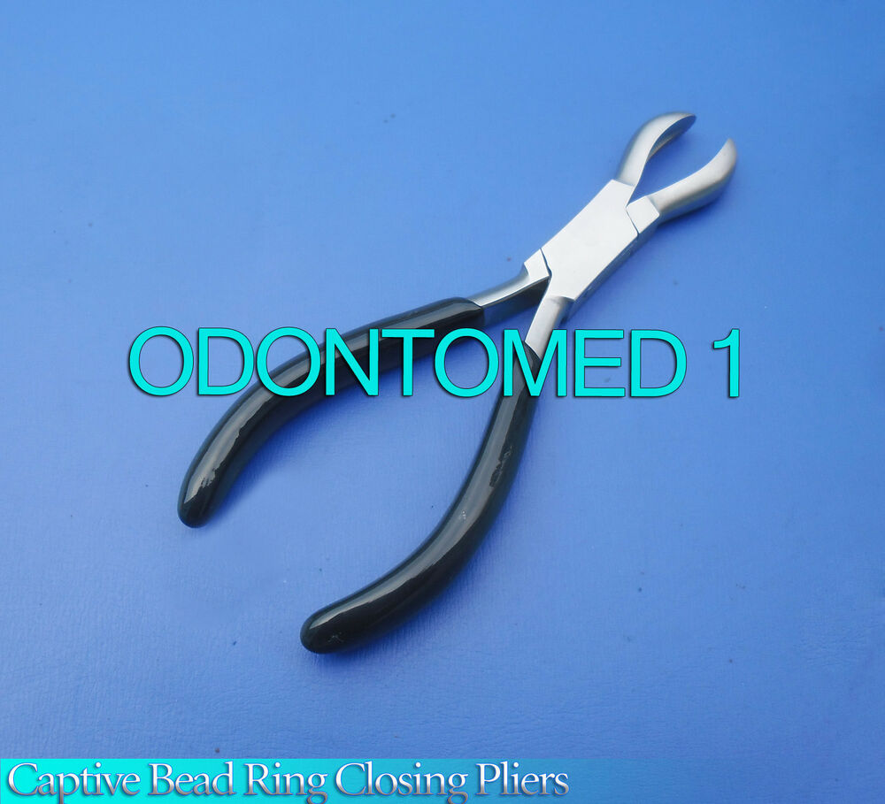 Large Stainless Steel Captive Bead Ring Closing Pliers Body