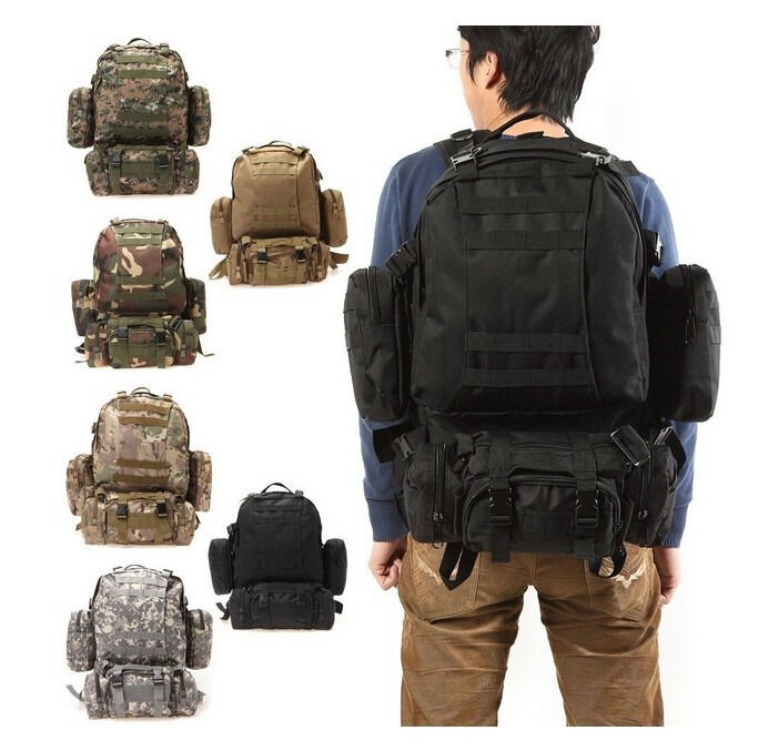 Multi-Color Military Tactical Molle Assault Travel Backpack Sport ...