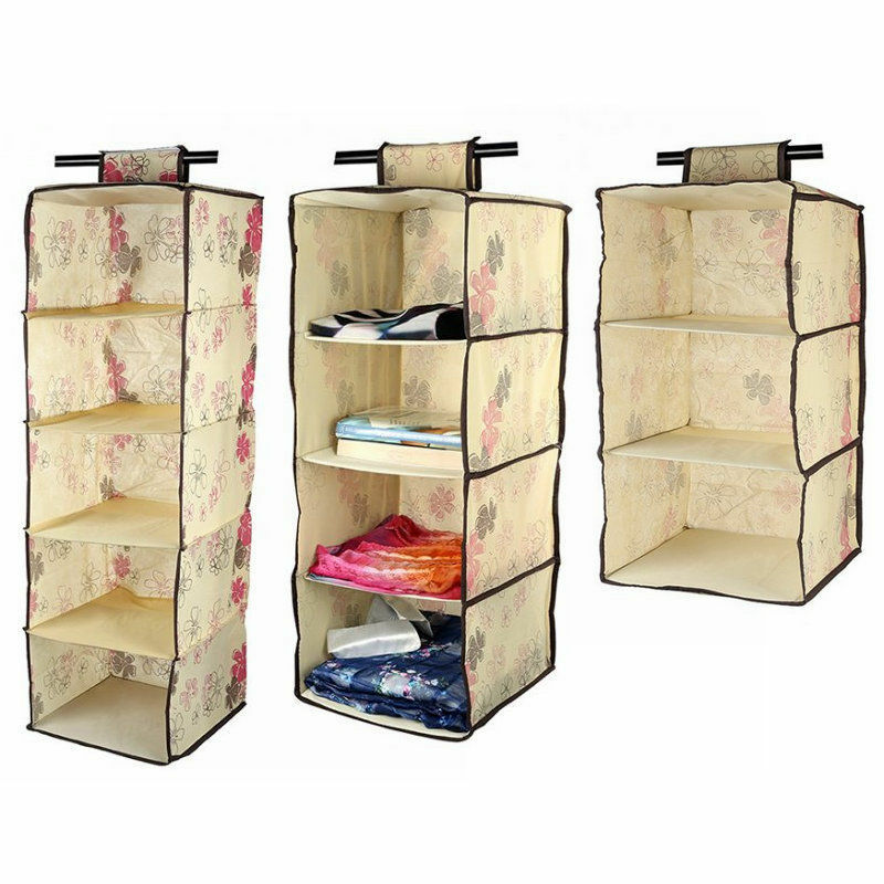 Lagute Hanging Shelf Wardrobe Storage Clothing Shelves