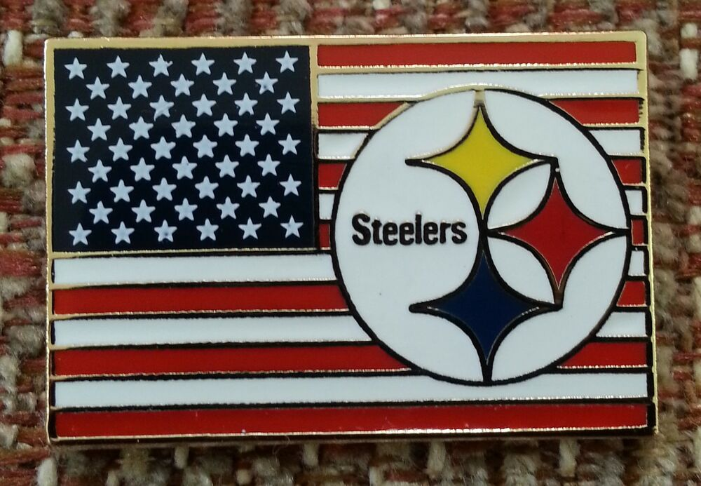 Pittsburg (KS) United States  city photo : Pittsburgh Steelers United States Flag Lapel Pin | eBay