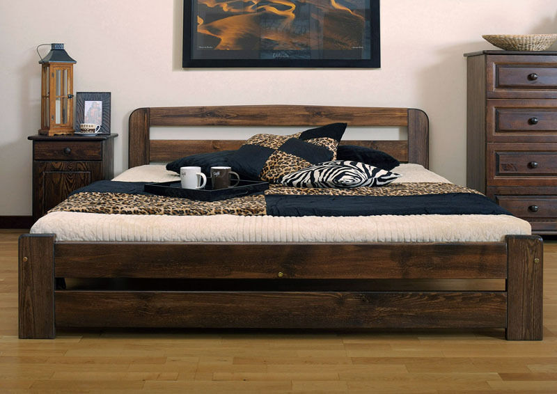 Wooden bed frames with drawers - Nodax Wooden Solid Pine King Size Bedframe 5ft Two Of