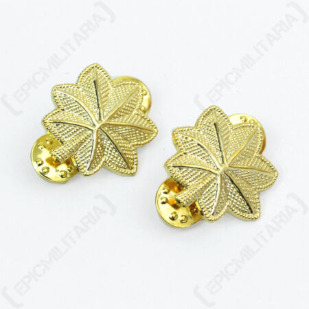 img-US Army MAJOR OFFICER Rank Insignia Gold Badges American Military Oak Leaves Pin