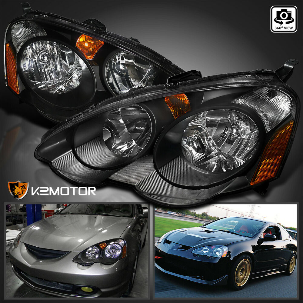 [JDM Black] 2002-2004 Acura RSX DC5 Replacement Headlights