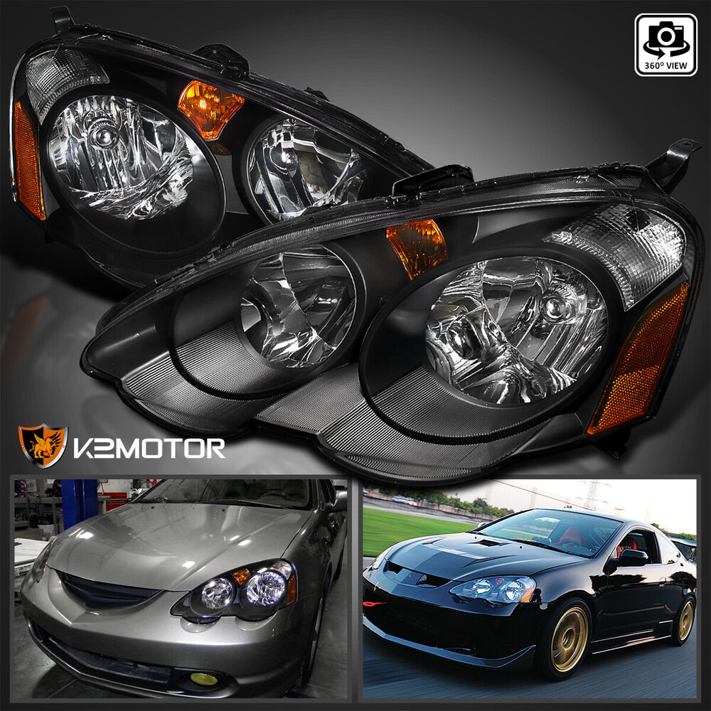 2002 Acura Rsx Repair Prices: [JDM Black] 2002-2004 Acura RSX DC5 Replacement Headlights
