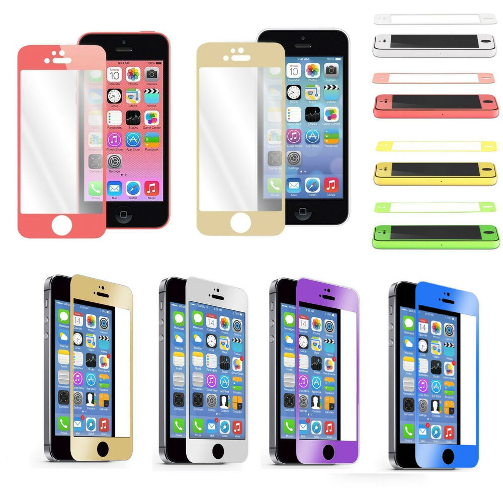 iphone 5c tempered glass colorful real tempered glass screen protector for 14707
