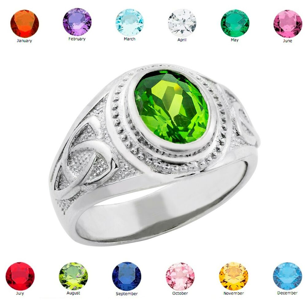 rings kaya ring uk birthstone silver birthstones jewellery engraving with crown two crow