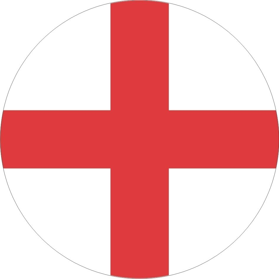Details about england football team supporters flag round sticker decal graphic vinyl label