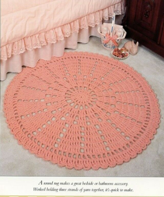 Knitting Pattern For Round Rug : Round Wheel Rug Vanna Crochet Pattern Leaflet - 30 Days to Shop and Pay! eBay