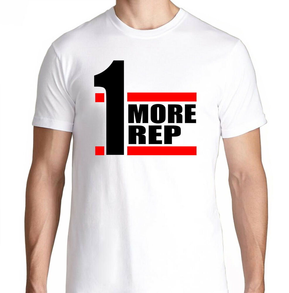 One more rep fit bench gym funny crossfit health running for Funny crossfit t shirts