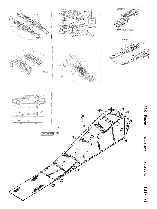 Vehicular Ramp 270 Patents 2000 Pages