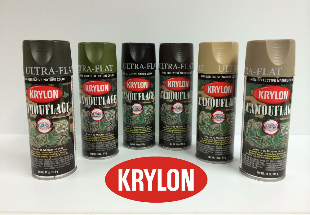 Krylon Camouflage Spray Paint Set Of 3 Cans Only Olive And Choice Of 2 Other Ebay