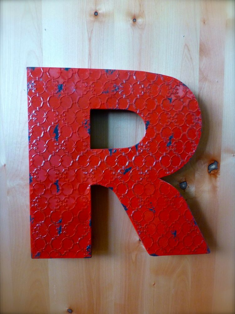 vintage metal letters for the wall industrial metal wall letter quot r quot 20 quot rustic 14776