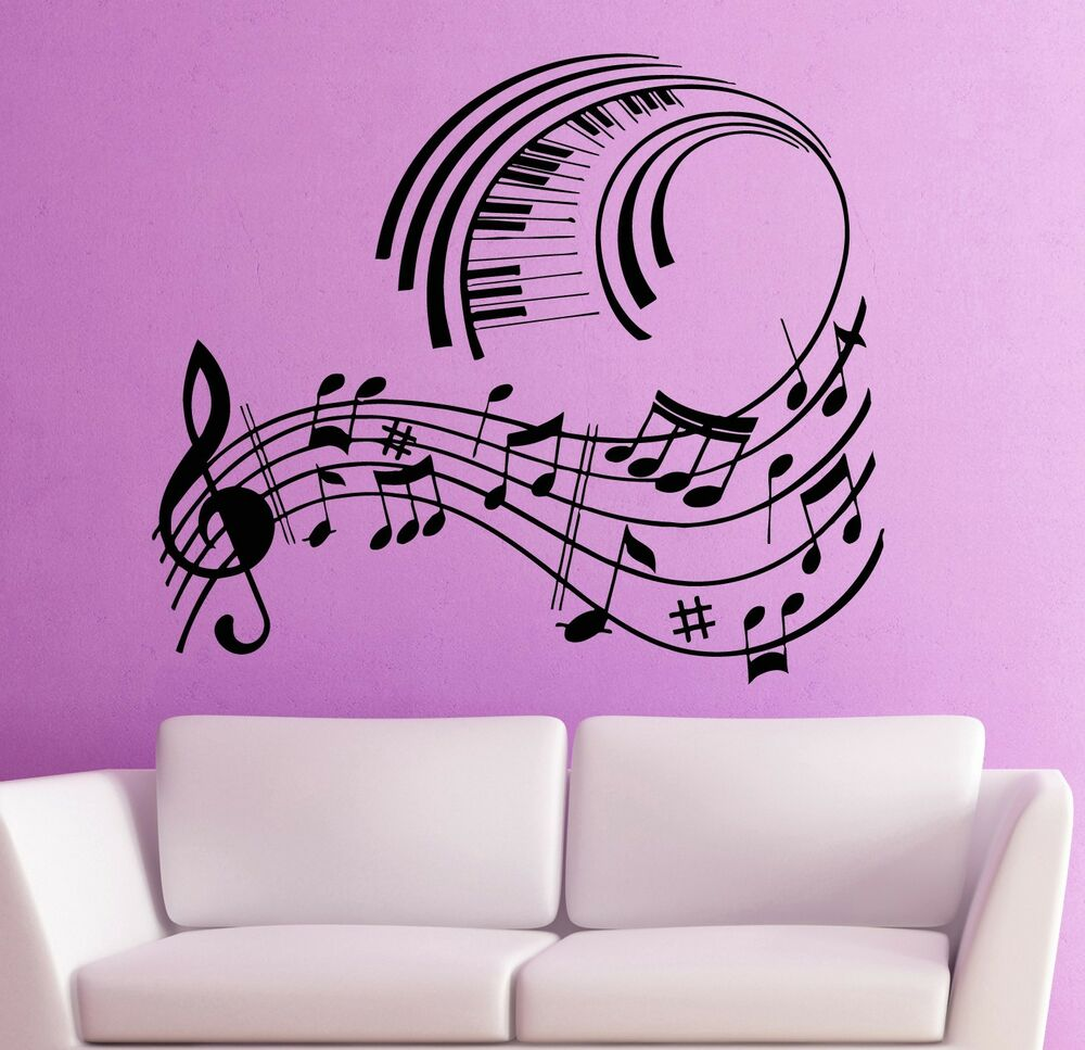 Wall stickers vinyl decal music notes musical room decor - Over the garden wall soundtrack vinyl ...