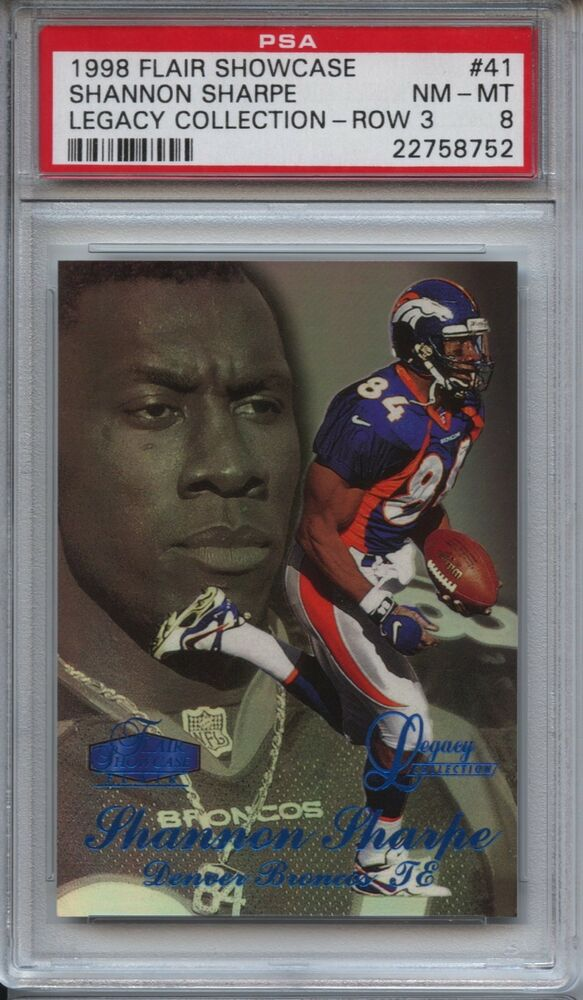 Details about 1998 FLAIR SHOWCASE LEGACY COLLECTION 41 SHANNON SHARPE ROW 3  PSA 9 Mint 42 100 b2c7a8ee7