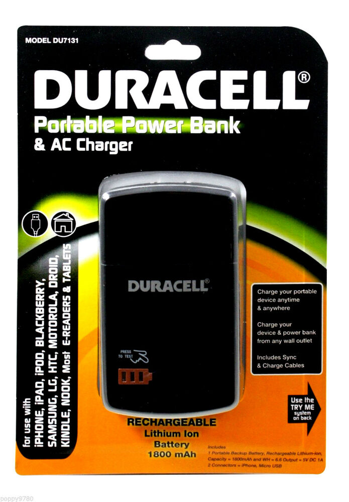duracell portable power bank backup battery samsung cell. Black Bedroom Furniture Sets. Home Design Ideas