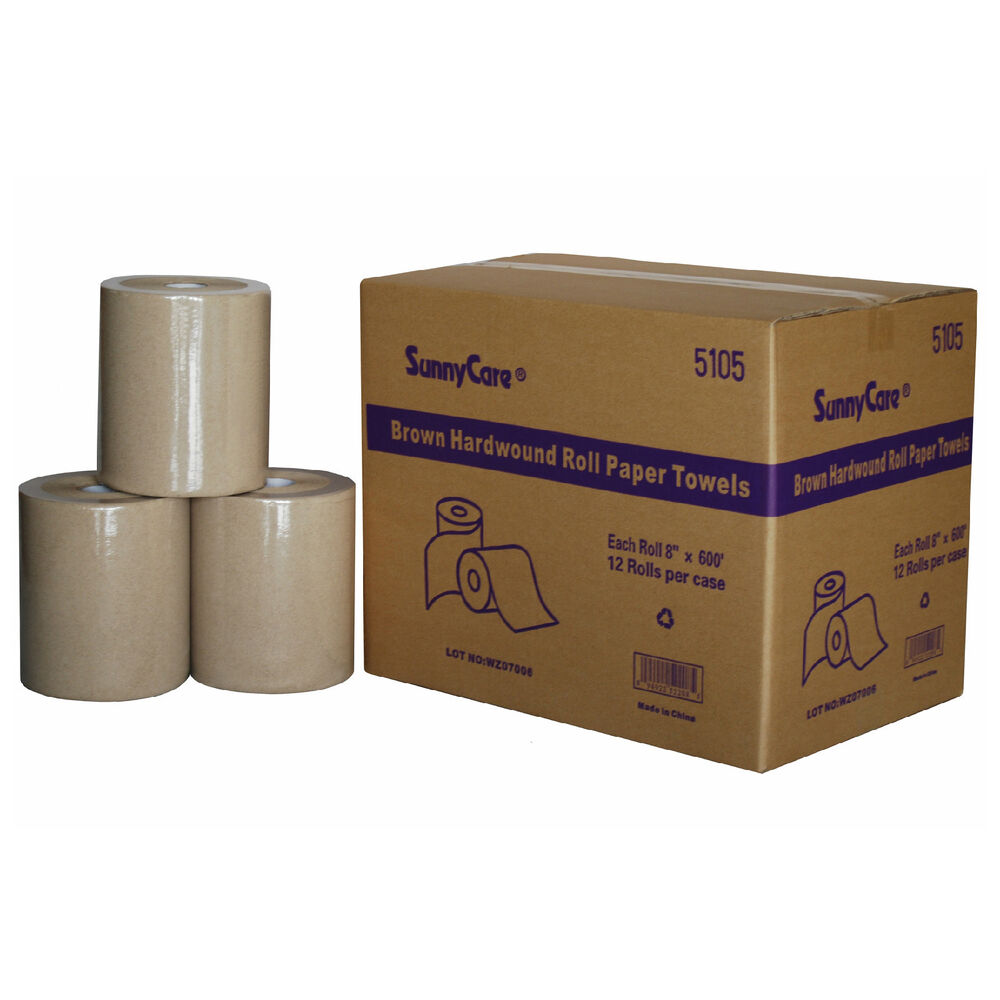 Paper Towel Rolls For Hamsters: #5105 SunnyCare 12 Rolls Hard Wound Paper Roll Towels, 8
