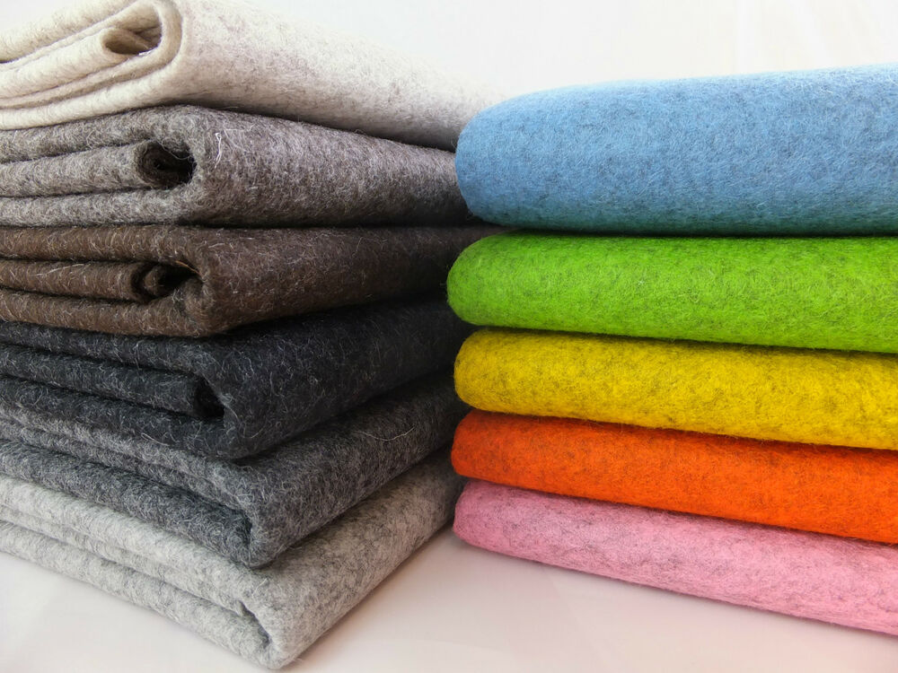 100 Wool Felt 1mm Thick Per Metre Sheet 90cm Wide Natural