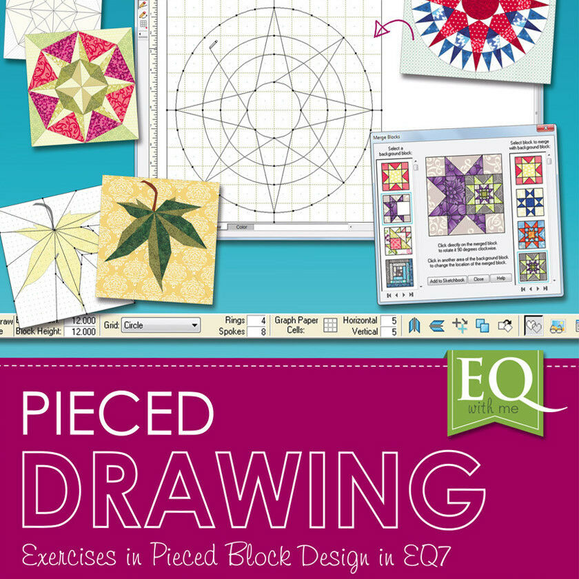 Free Quilt Block Design Program : EQ WITH ME PIECED DRAWING EQ7 Software Electric Quilt Block Design NEW BOOK eBay