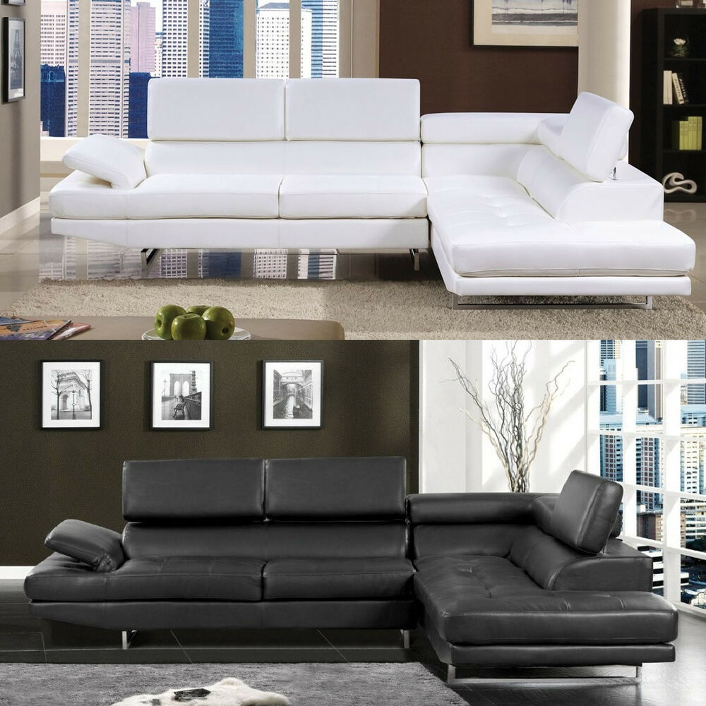 Sectional Sofa Black White Sectional Couch Modern 2 Piece