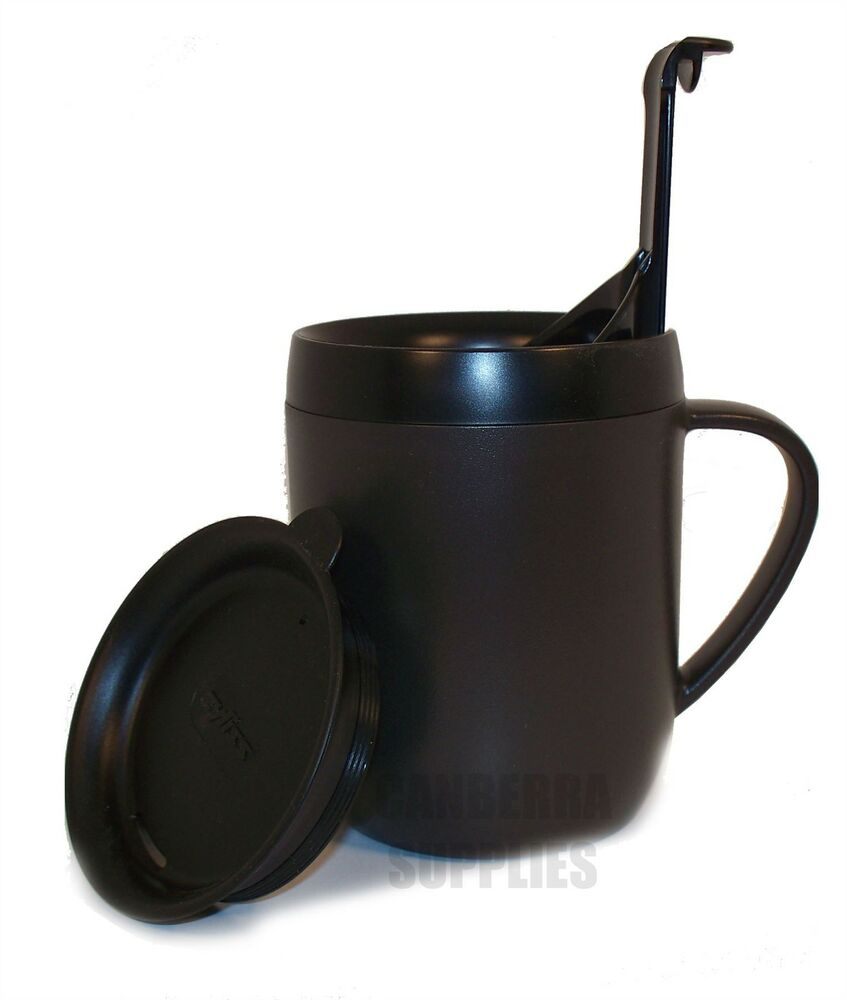 zyliss smart cafe one cup coffee cafetiere hot mug with splash lid black ebay. Black Bedroom Furniture Sets. Home Design Ideas